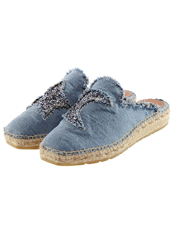 Cute Couture Espadrilles, Blau