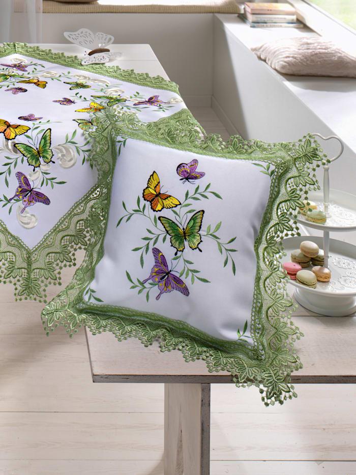 Webschatz Povlak na polštář 'Mariposa', Bílá/Multicolor