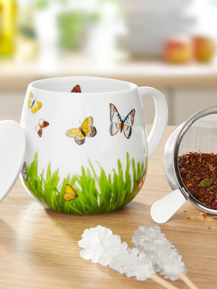 """Könitz Tasse à thé """"papillons"""", Multicolore"""