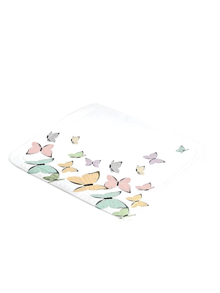Kleine Wolke Douchebakmat Vlinder, multicolor