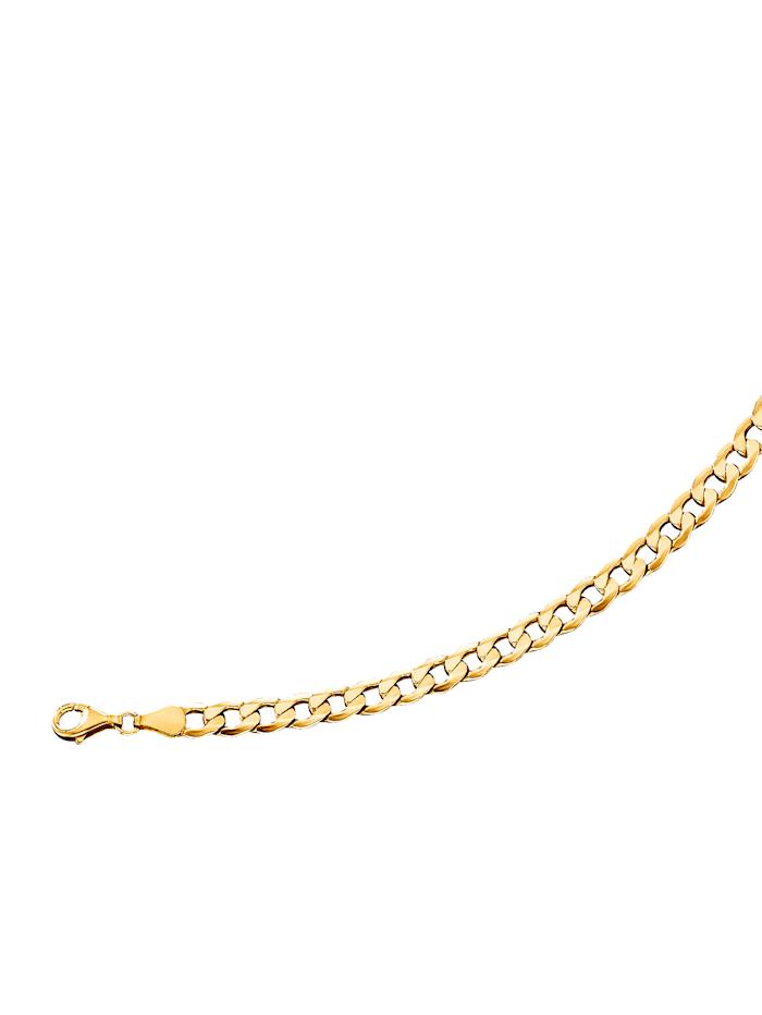 Panzerkette in Silber 925 vergoldet, Gelbgoldfarben