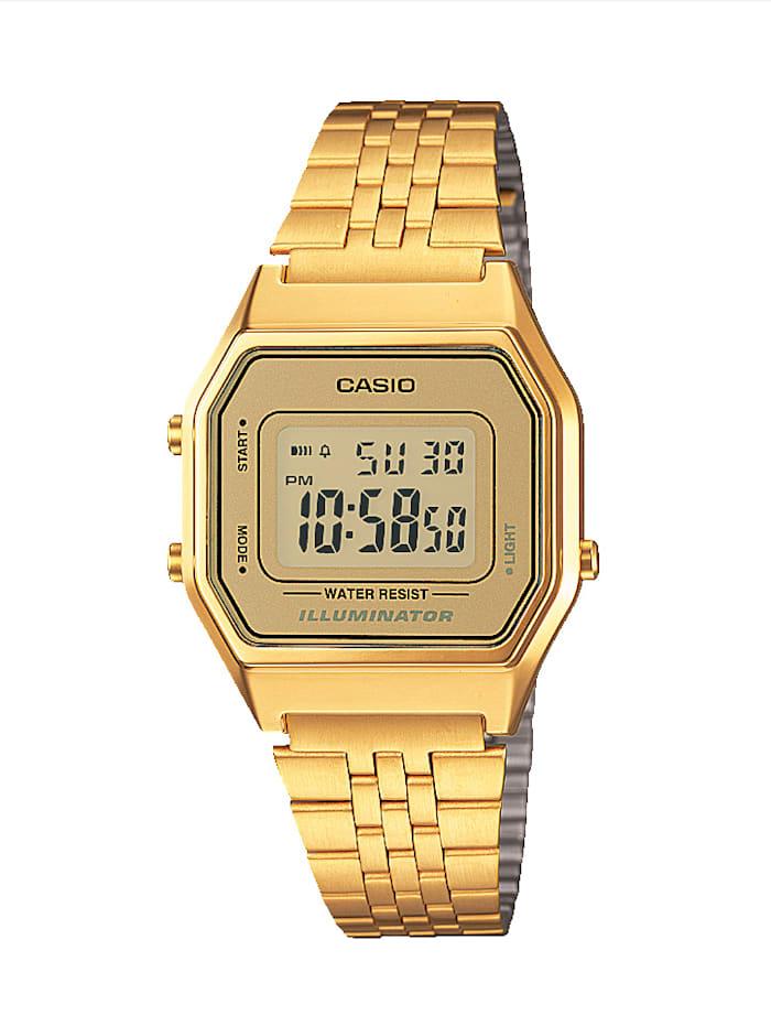 Casio Unisex-Uhr Chronograph, Gelbgoldfarben