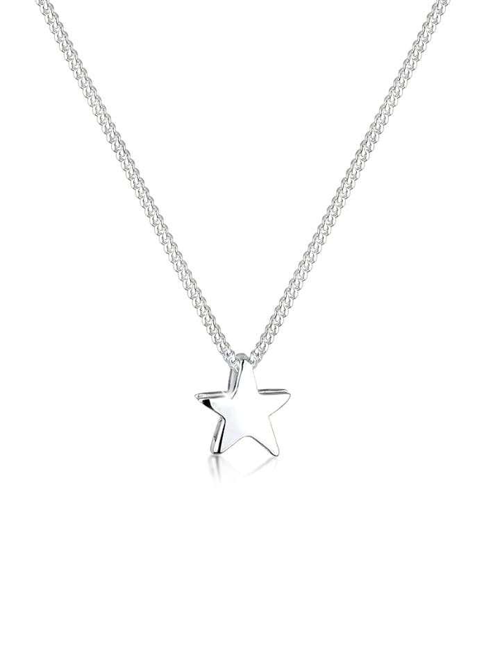 Elli Halskette Stern Filigran Astro Basic 925 Sterling Silber, Silber