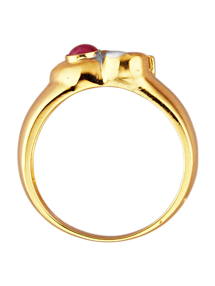Elefanten-Ring in Gelbgold