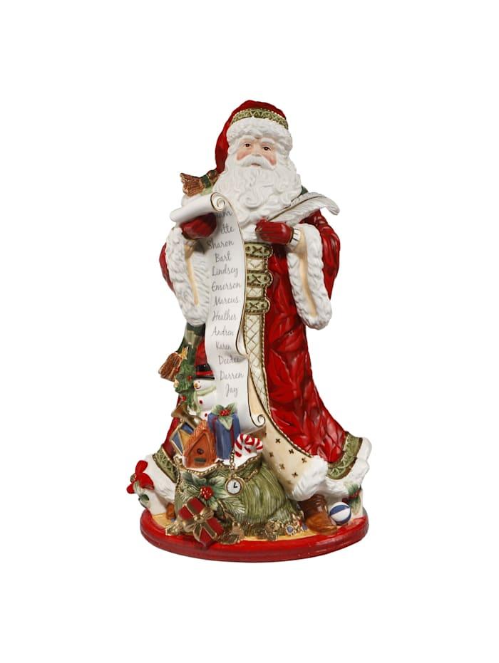 Fitz&Floyd Fitz&Floyd Figur Santa mit Schriftrolle, Bunt