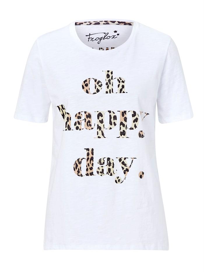 FROGBOX T-Shirt aus Baumwolle, Off-white