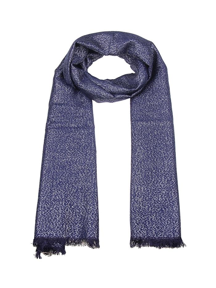 Leslii Schal mit schicken Glitzer-Fäden, blau-silber