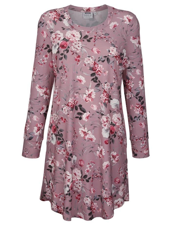 Ringella Nachthemd im romantischen Blumendessin, rosenholz/ecru/anthrazit