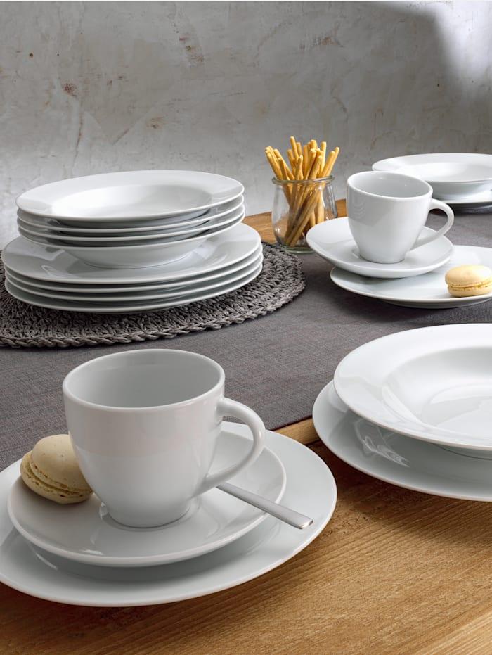 Van Well Middagsservise i 12 deler -Basic-, hvit