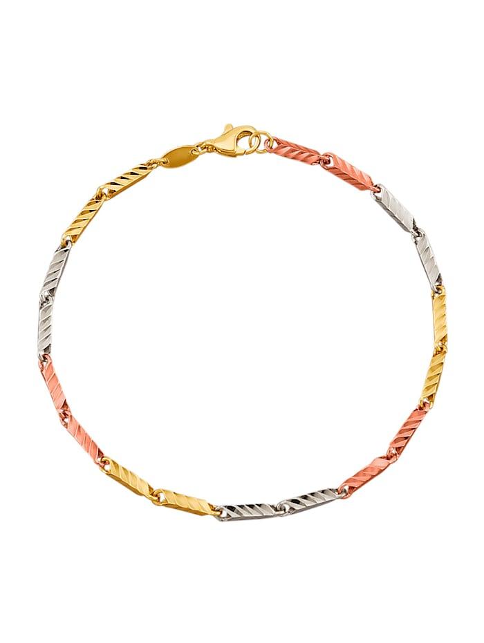 Diemer Gold Ranneketju kelta-, valko- ja ruusukultaa, Monivärinen