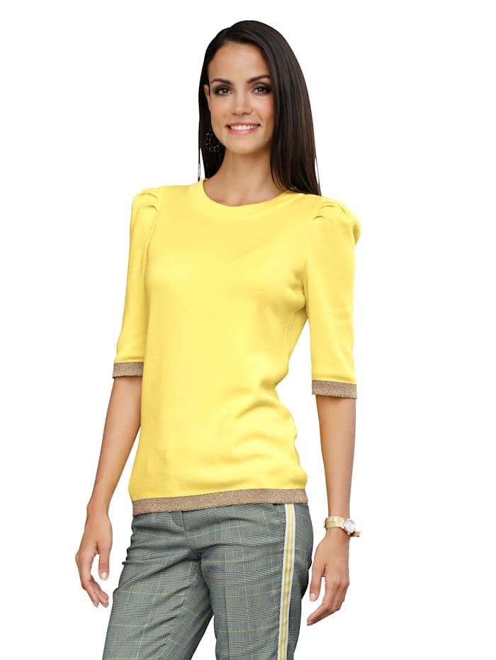 AMY VERMONT Pullover mit metallisiertem Garn, Gelb