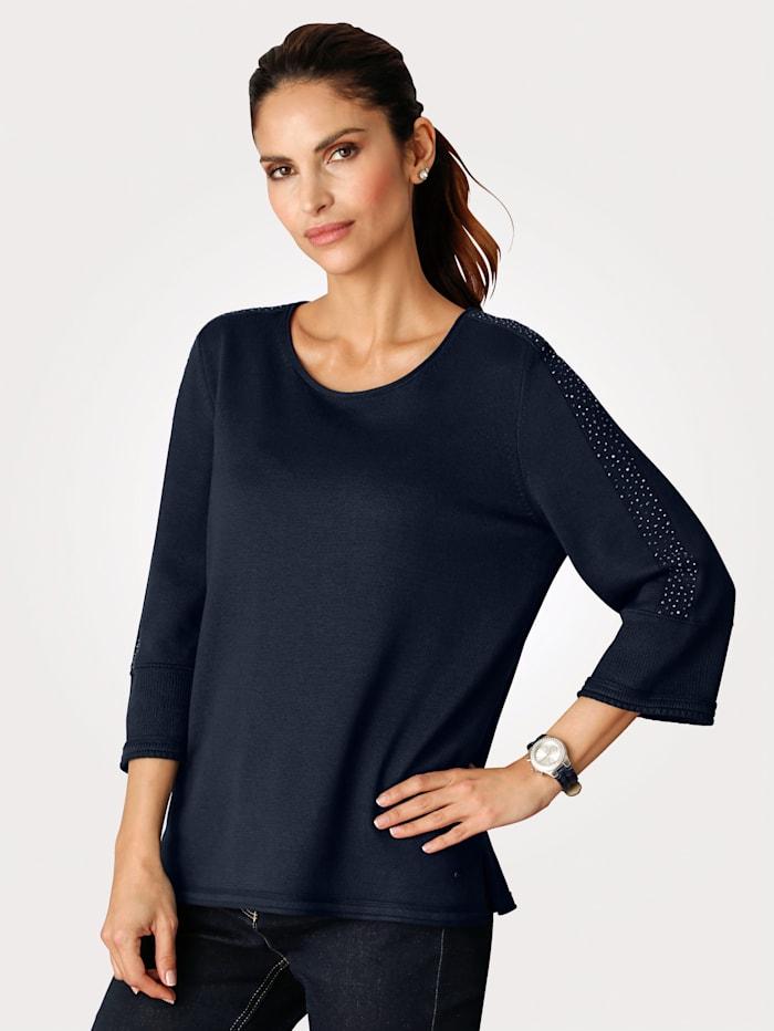 Pullover mit Strass-Verzierung am Ärmel