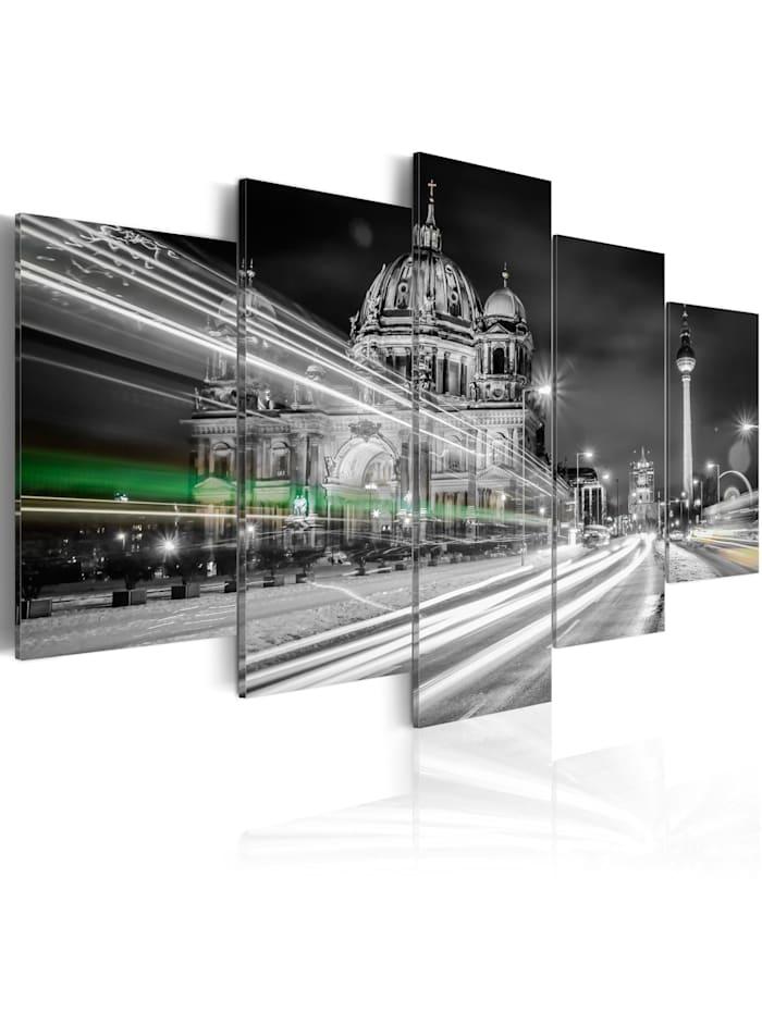 artgeist Wandbild Berlin at Night, schwarz-weiß