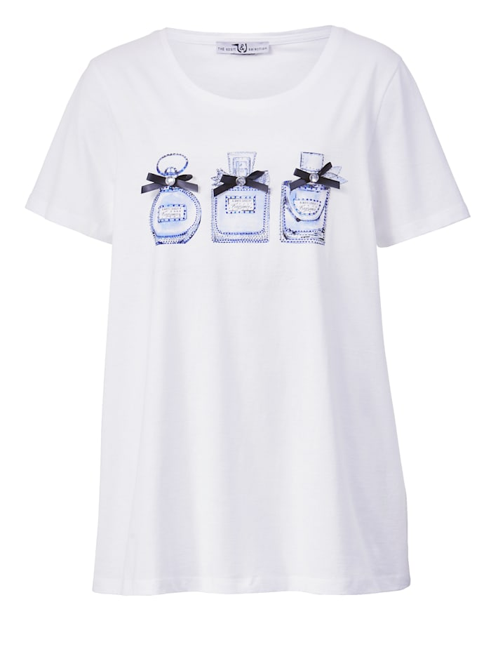 Shirt mit Parfum-Flakon Motiven
