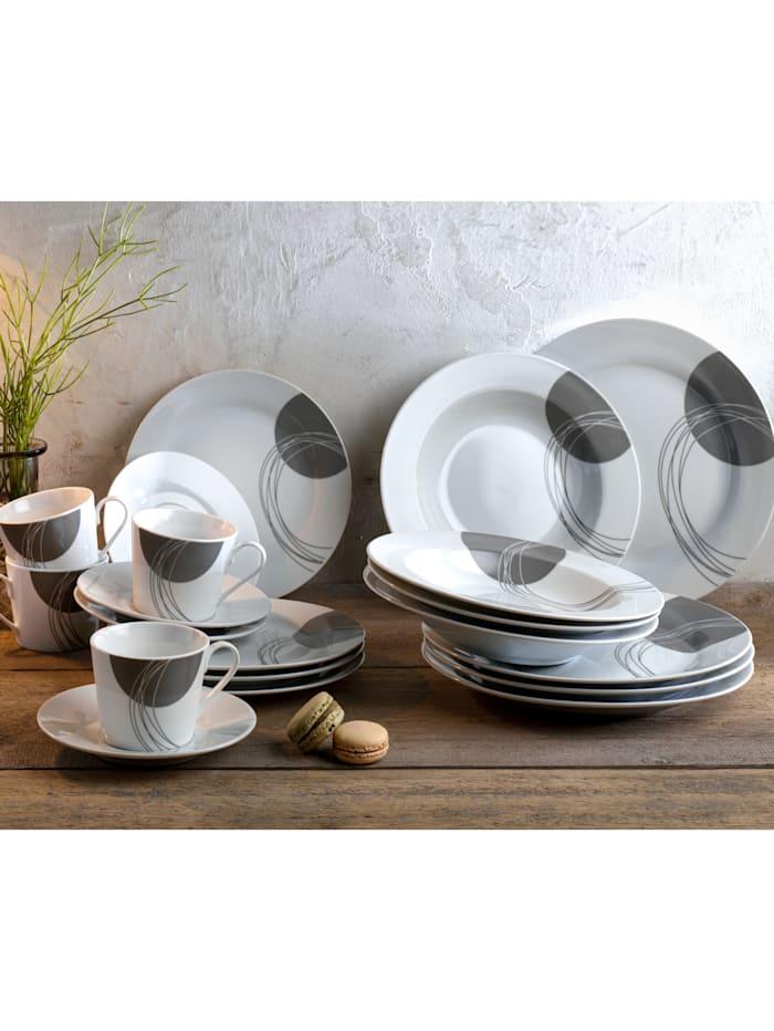Ritzenhof & Breker Mat- och kaffeservis i 20 delar – Romy, grå/vit