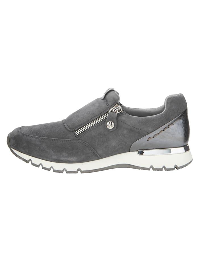 Sneakers en cuir velours de chevreau
