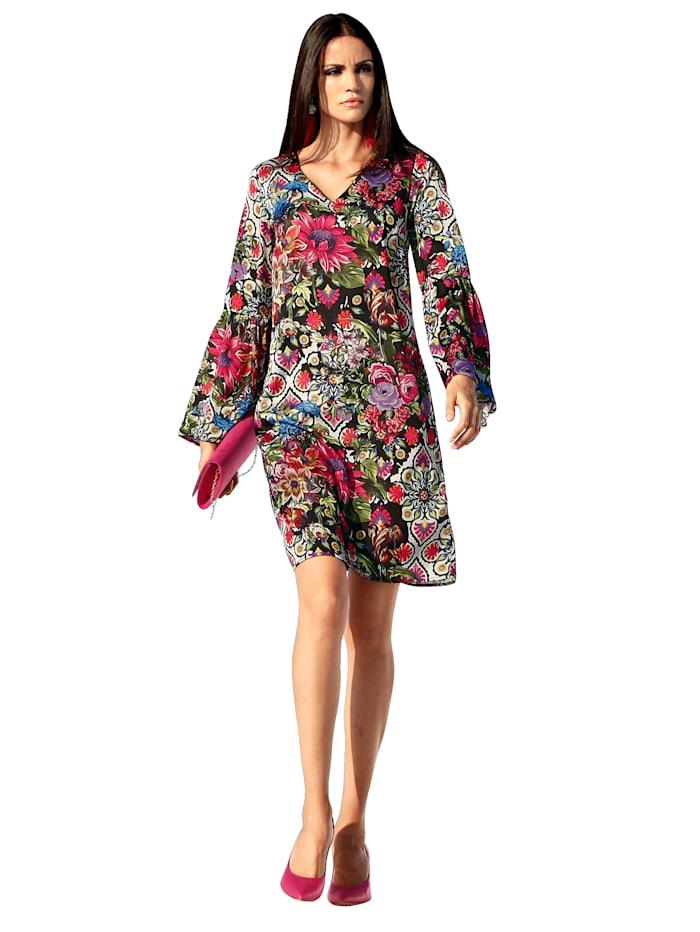AMY VERMONT Kleid mit floralem Druck, Multicolor