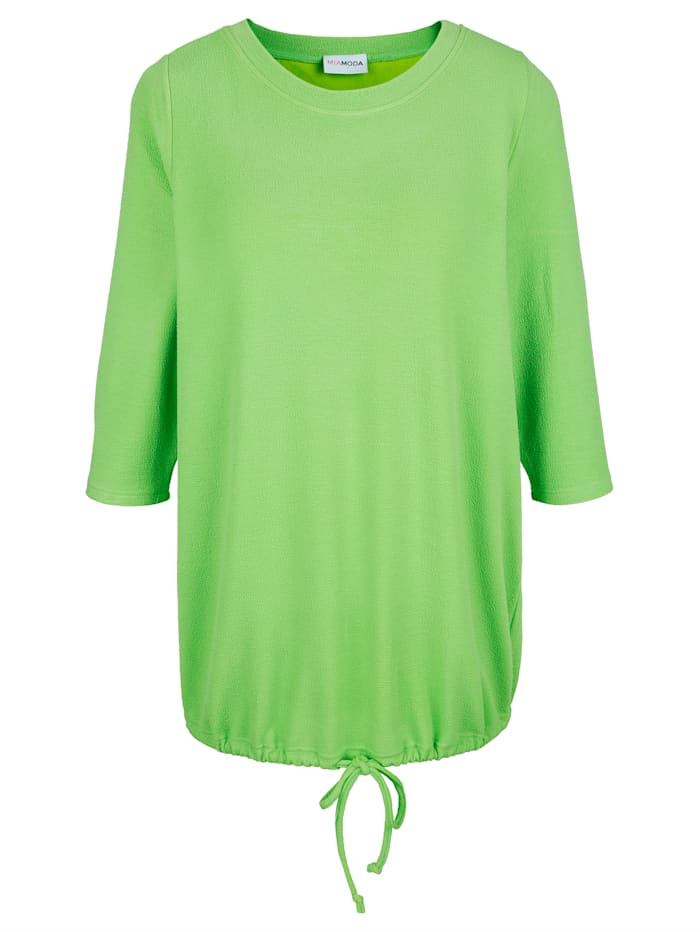 MIAMODA Tričko z pěkné strukturované tkaniny, Limetková