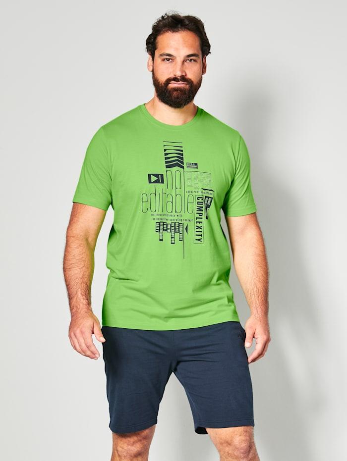 Men Plus T-Shirt mit platziertem Druck, Neongrün