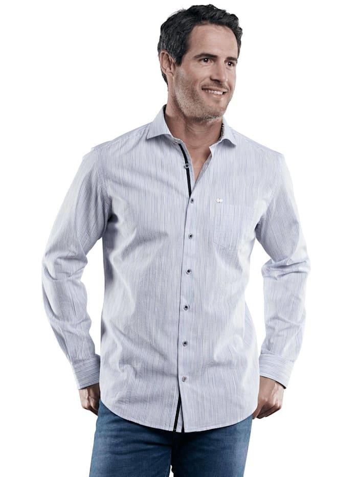 Engbers Hemd gemustert, Himmelblau