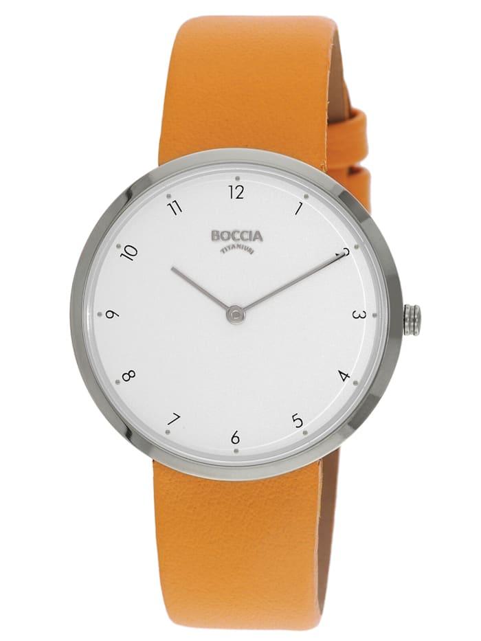 Boccia Titan Damen-Armbanduhr Trend, Weiß