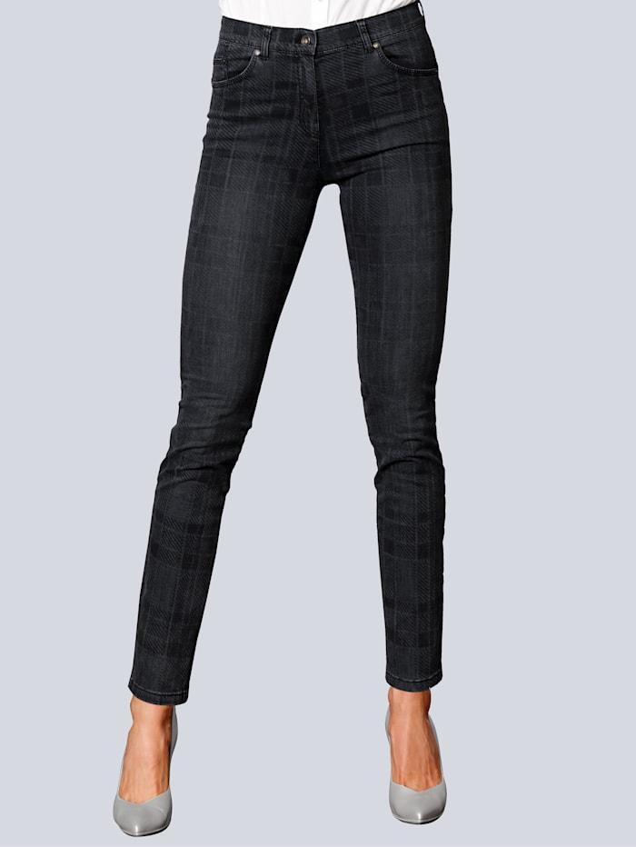 Jeans im Karo Dessin