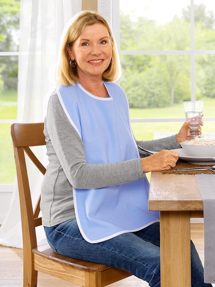 Frohn Speiseschürze mit Klettverschluss, hellblau