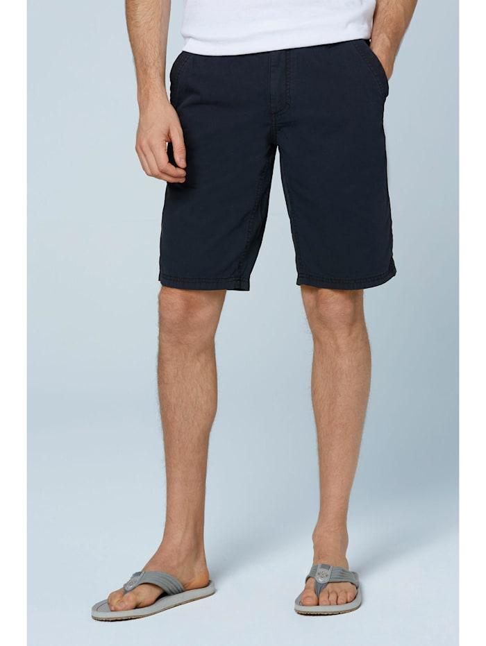 Camp David Chino Shorts Stone Washed mit tonigen Tapes, blue navy