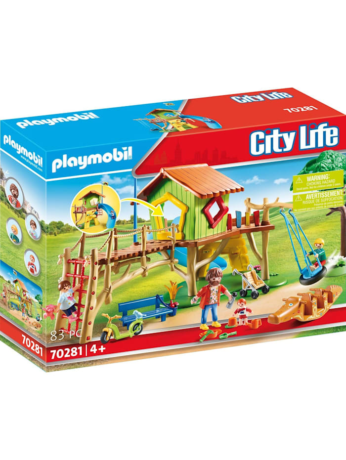 PLAYMOBIL Konstruktionsspielzeug Abenteuerspielplatz, bunt/multi