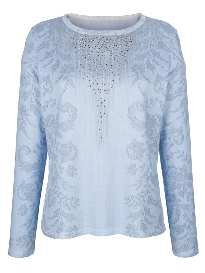 MONA Jumper with a graphic print, Light Blue