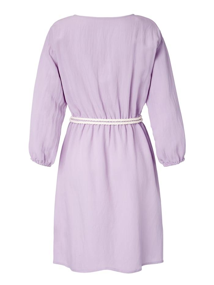 Kleid mit Gürtel in Kordeloptik
