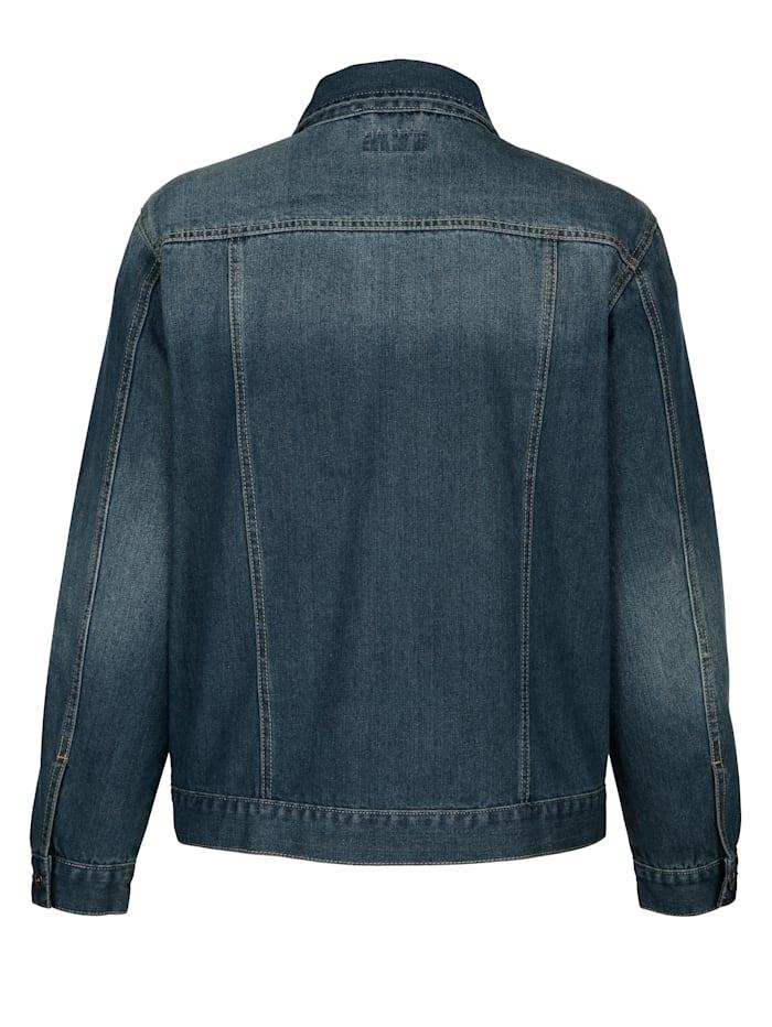 Jeansjacka i lättskött material