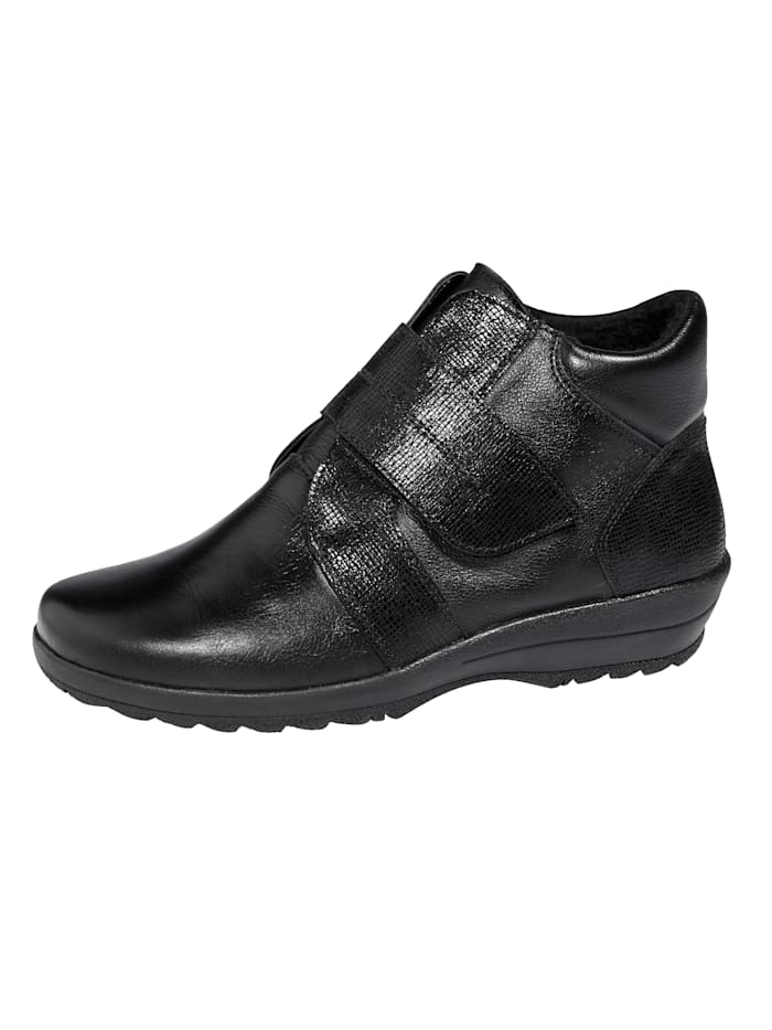 Naturläufer Ankle boots made from supple leather, Black