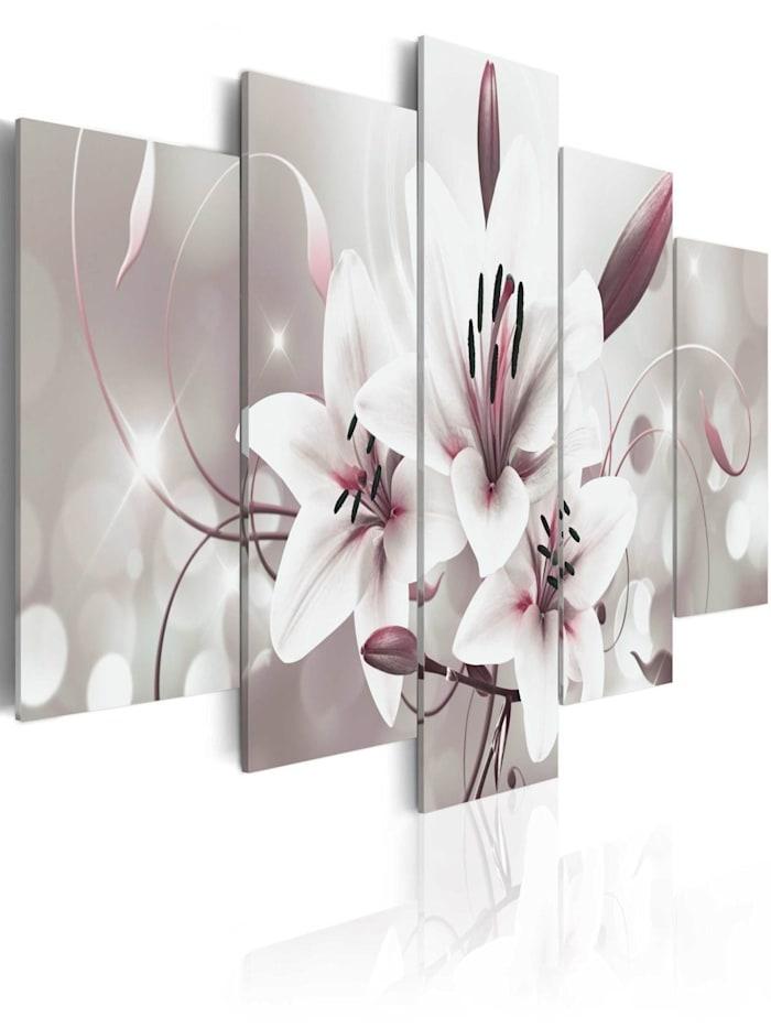 artgeist Wandbild Symbol der Unschuld, Weiß,rosa,Grau,Bordeaux
