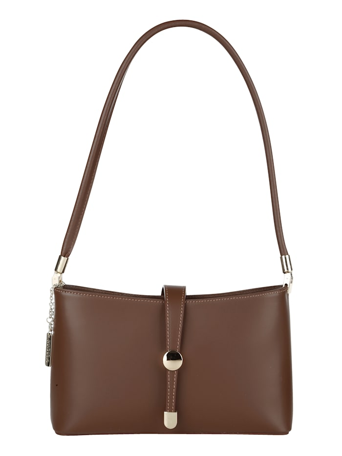 MONA Handbag made from supple leather, Brown