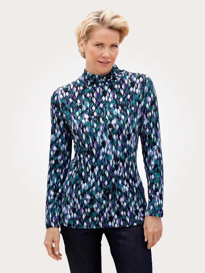 MONA T-shirt motif graphique imprimé, Marine/Bleu