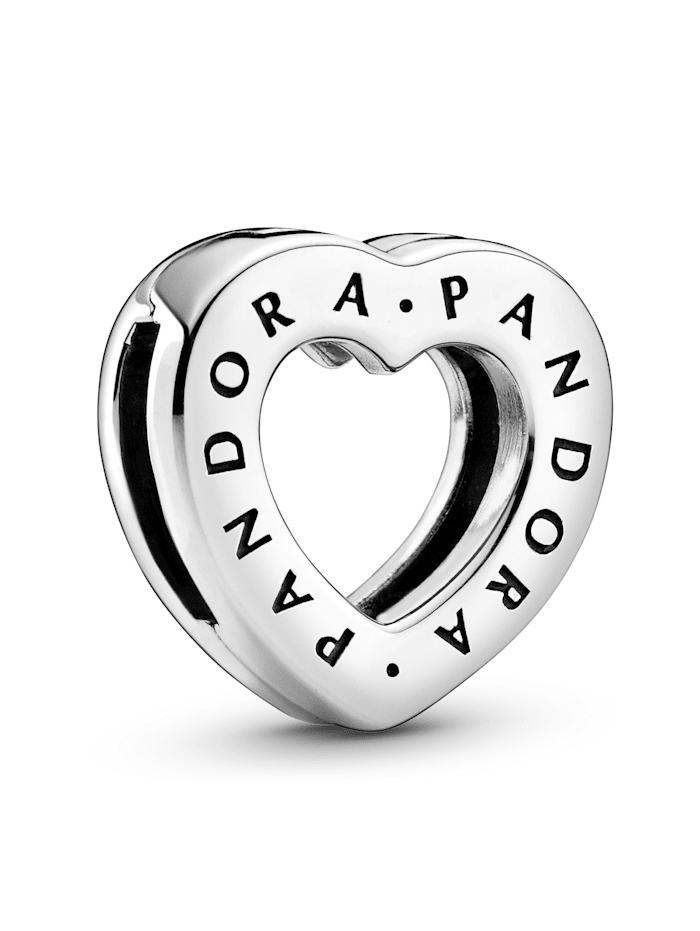 Pandora Clip-Charm - Herz - Pandora Reflexions - 798741C00, Silberfarben