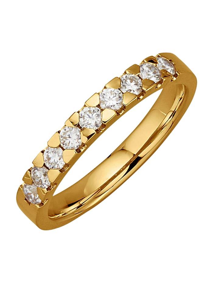 Diemer Diamant Damenring mit 9 Brillanten, Weiß