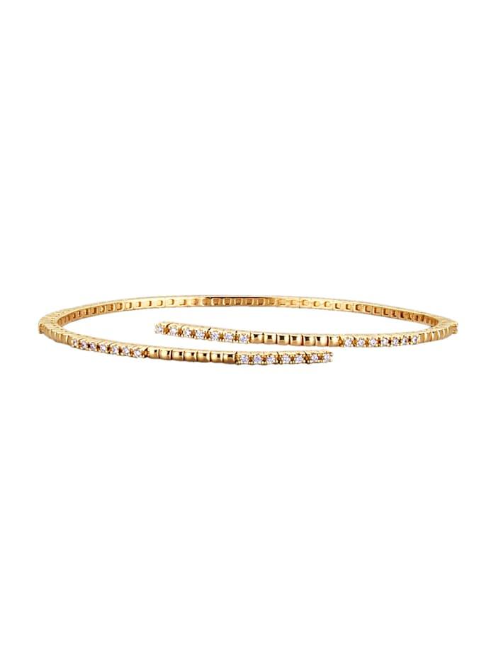Kultainen timanttirannerengas