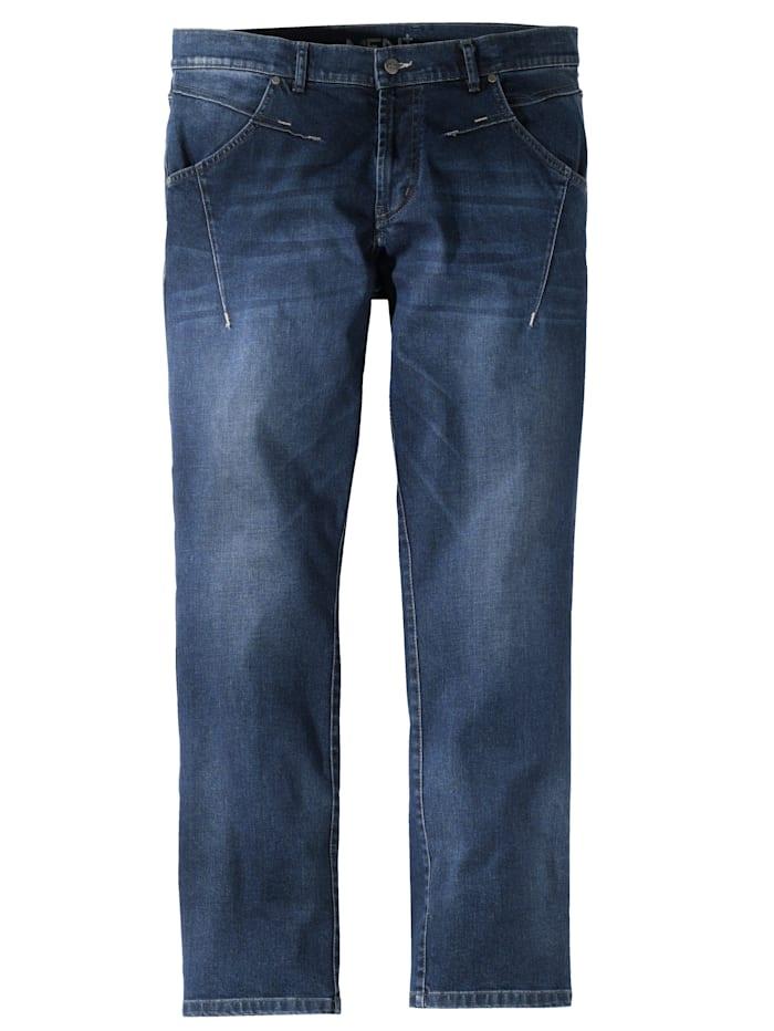 Men Plus Jeans i slim fit, Dark blue