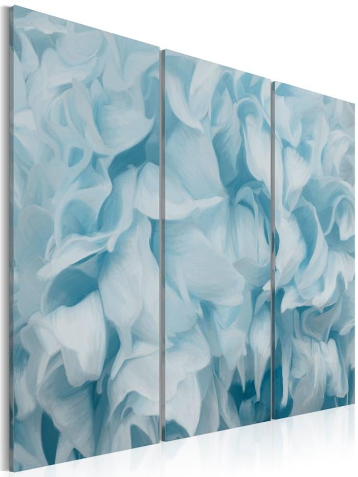 artgeist Wandbild Azalee in blau, Himmelblau