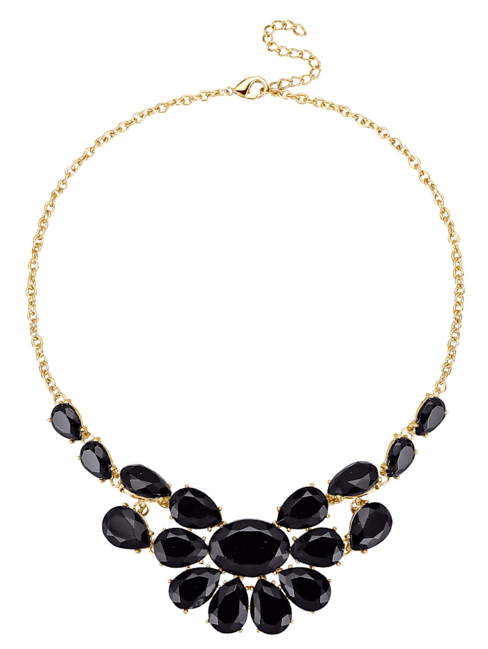 Collier avec perles de verre