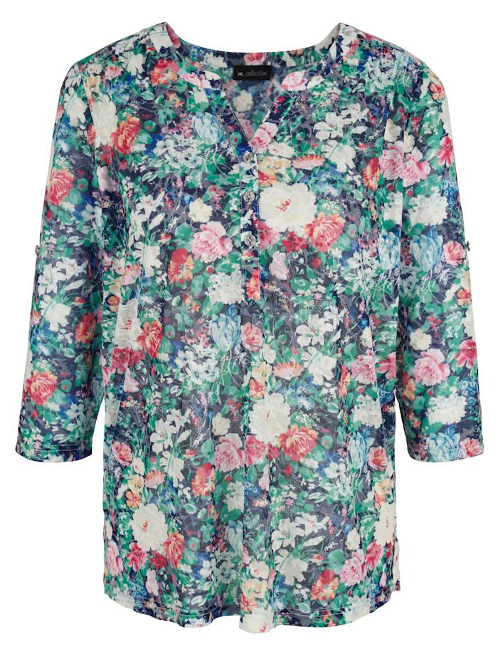 m. collection Shirt in floralem Druckdesign, Multicolor
