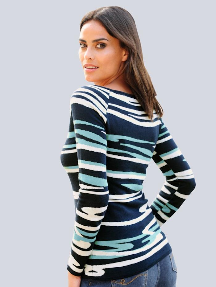 Pullover im exklusiven Alba Moda Jacquardstrick