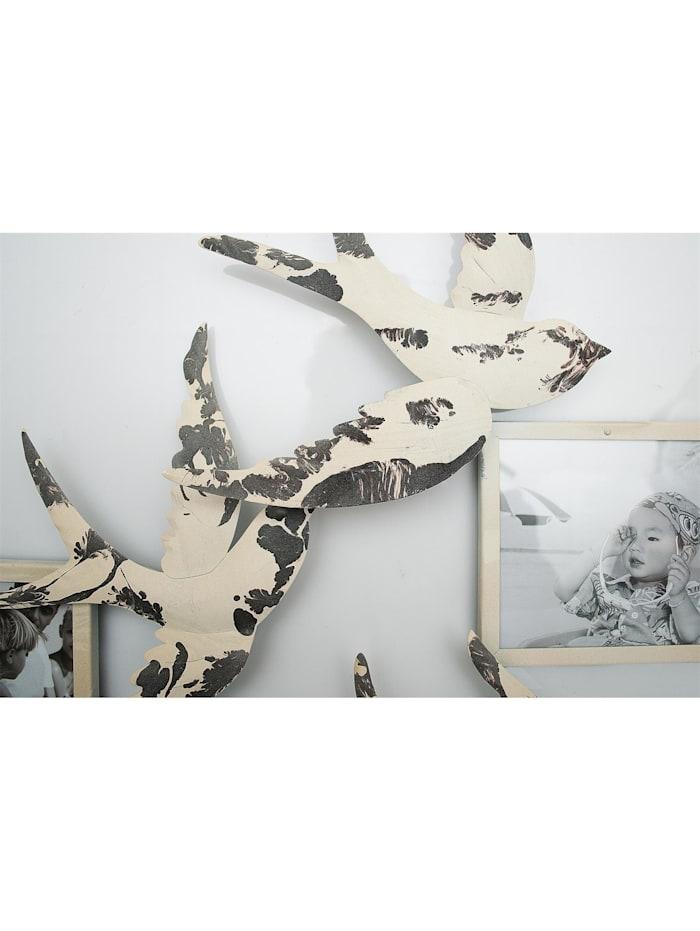 NTK-Collection Wanddeko mit Bilderrahmen Schwalbe, Creme