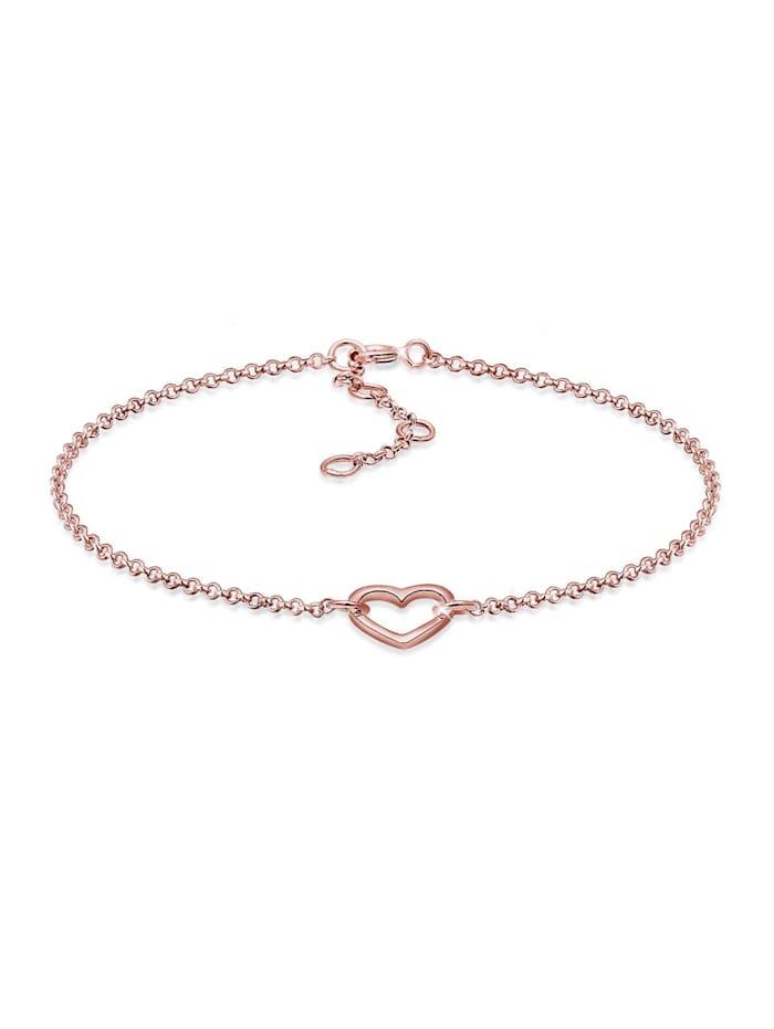 Elli Armband Herz Liebe Love 925 Sterling Silber, Rosegold