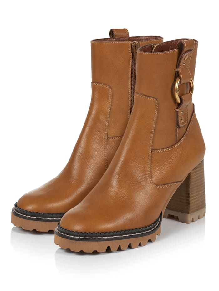 SEE BY CHLOÉ Stiefelette, Cognac