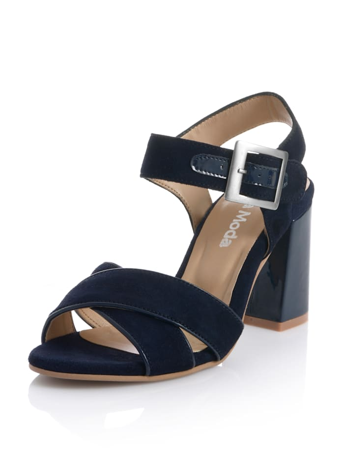 Alba Moda Sandalette mit überkreuzten Riemen, Marineblau