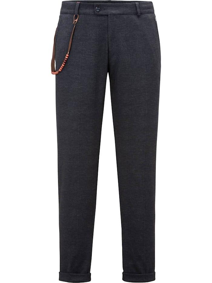 Club of Gents Jersey-Anzug-Hose CG Conn mit elastischem Bund, Dunkelblau
