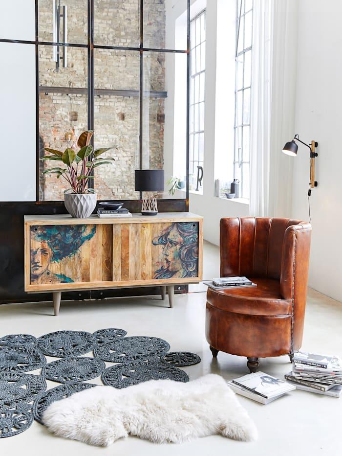 IMPRESSIONEN living Sideboard, Braun/Schwarz